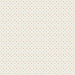 Cream Diagonal Diamond Dots