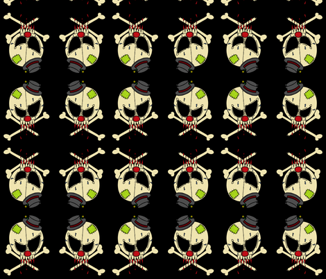clown skull fabric by miss_jo_di_o on Spoonflower - custom fabric