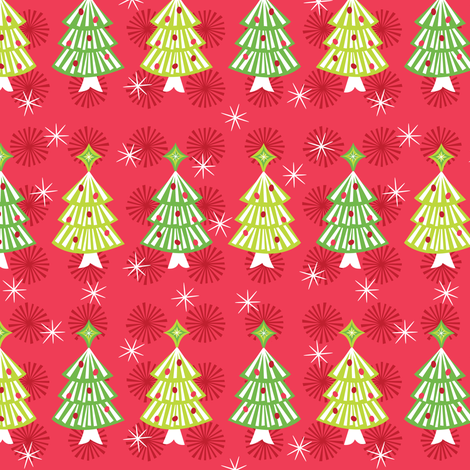 Festive Trees fabric by robyriker on Spoonflower - custom fabric
