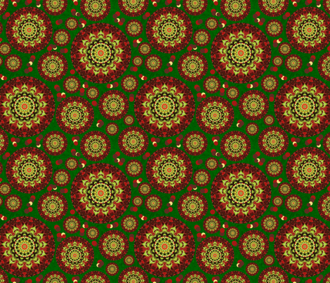 xmas_rose fabric by elarnia on Spoonflower - custom fabric