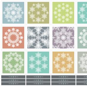 Snow flake coctail napkins