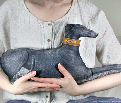 Greyhound Pillow Kit - Black Brindle Female
