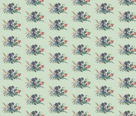 Sweet dog in sweet wheat fabric by ragan on Spoonflower - custom fabric
