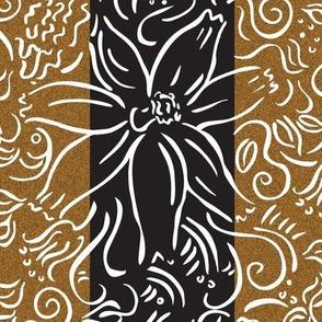 brwn/blk floral stripe