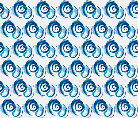 An Eddy in blues fabric by suebee on Spoonflower - custom fabric