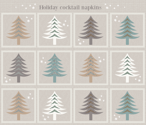 Holiday Trees fabric by kimsa on Spoonflower - custom fabric