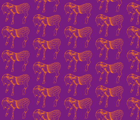 Horses  fabric by suebee on Spoonflower - custom fabric
