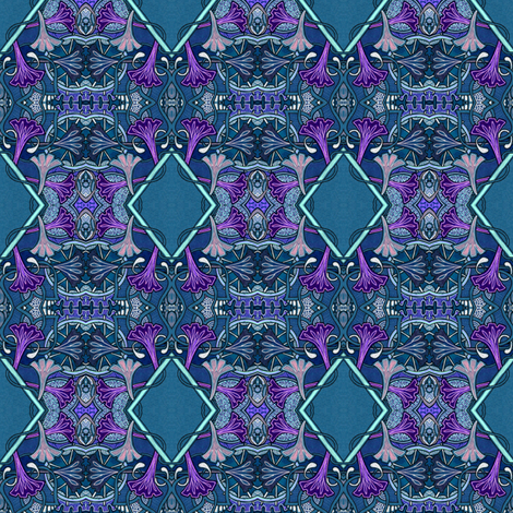 Moonflower Midnight fabric by edsel2084 on Spoonflower - custom fabric