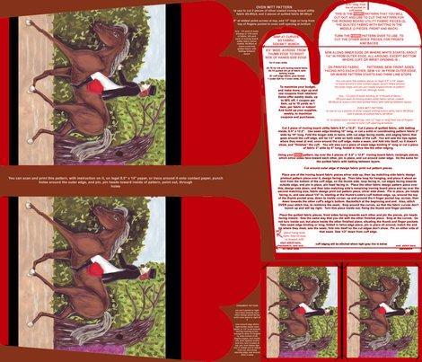 Dressagehorseovenmittpatternpiecepatternornamentpatternfatquarter_shop_preview