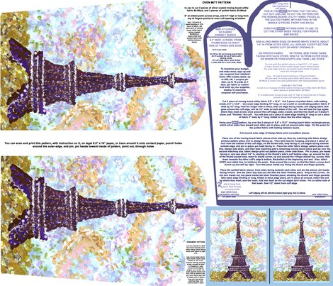 Eiffeltowerpointillismovenmittpatternwithpiecepatternandornamentpatternfatquarter_shop_preview