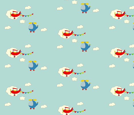 Lets Fly Away Together fabric by anikabee on Spoonflower - custom fabric