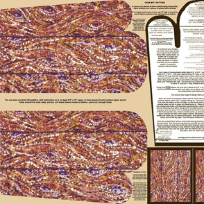 Wood Planks Pointillism Oven Mitt Pattern plus Instructions on Piece Pattern and Ornament Pattern On Fat Quarter by Kristie Hubler