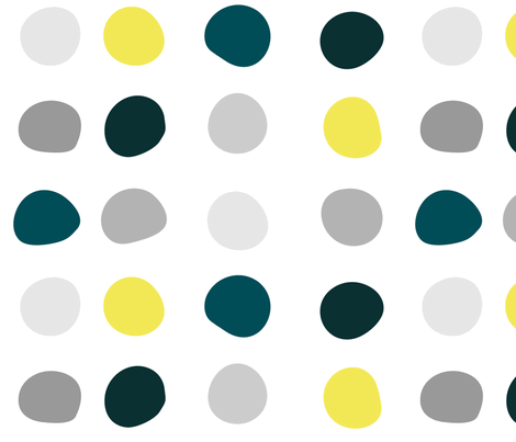 Color Dots - irregular spacing fabric by wren_leyland on Spoonflower - custom fabric