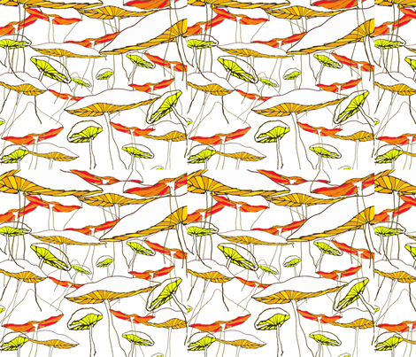 forest of the magic mushrooms fabric by marimuc on Spoonflower - custom fabric