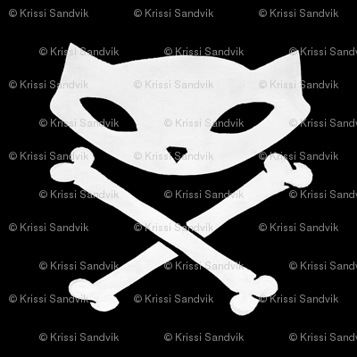 Skelekitty Crossbones Black