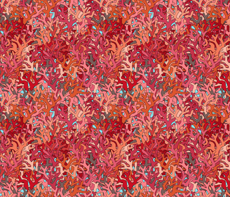 coral fabric by scrummy on Spoonflower - custom fabric