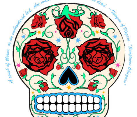 Sugar Skull- Matters of indifference to the dead fabric by happyhappymeowmeow on Spoonflower - custom fabric