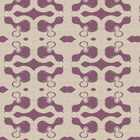 Gourds - eggplant and lavender fabric by materialsgirl on Spoonflower - custom fabric