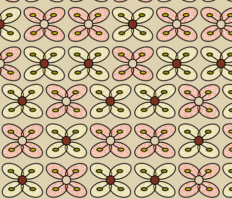Bese_Saka_Flora fabric by pink_koala_design on Spoonflower - custom fabric