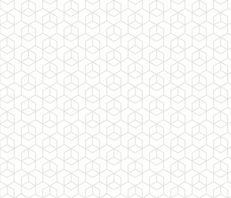 Hexagon trellis - pale grey on white fabric by little_fish on Spoonflower - custom fabric