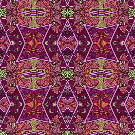 Trumpets of Mother Nature's All Star Band fabric by edsel2084 on Spoonflower - custom fabric