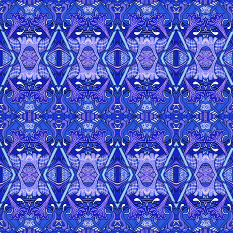 Blue Morning fabric by edsel2084 on Spoonflower - custom fabric