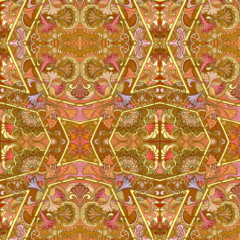 Autumn's Flowered Path fabric by edsel2084 on Spoonflower - custom fabric