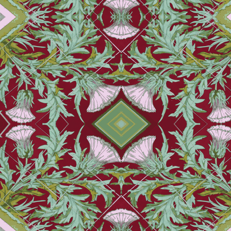 Old Thistle Tiles, Paris fabric by susaninparis on Spoonflower - custom fabric