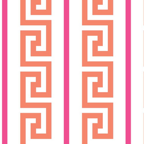 greek_key_strip orange/pink