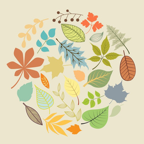 Colorful Leaf Circle