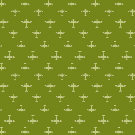 Spitfire - Olive fabric by tuppencehapenny on Spoonflower - custom fabric