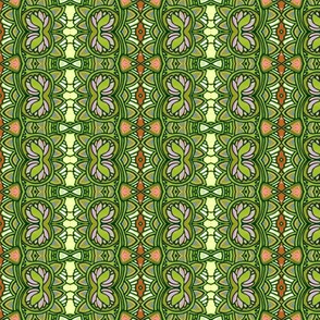 Over and Over Scallops and Clover (Vertical Stripe)