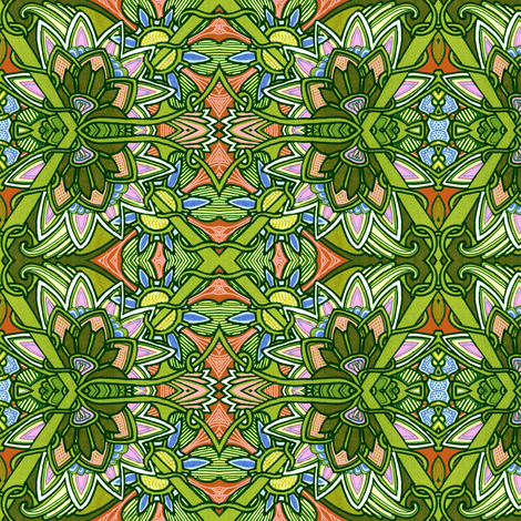 Stained Glass Gardens fabric by edsel2084 on Spoonflower - custom fabric