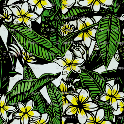 Frangipani Print for Bag, copyright 2012, seasparkles