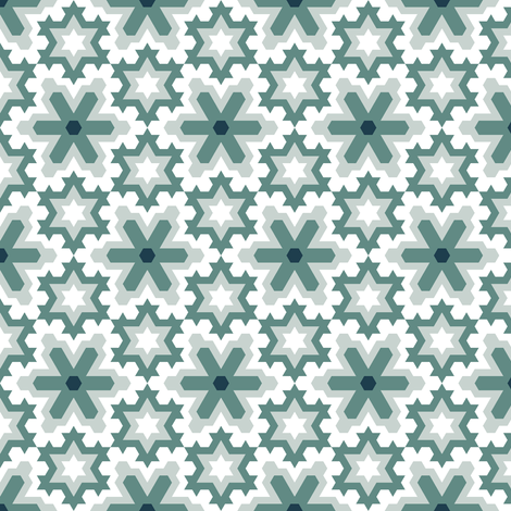 snowflakes (9) plain fabric by sef on Spoonflower - custom fabric