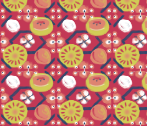 Matisse_Tribute_Fruit fabric by pd_frasure on Spoonflower - custom fabric