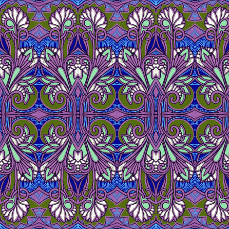 Art Nouveau Bouquet fabric by edsel2084 on Spoonflower - custom fabric