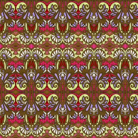 Stained Glass 1902 style fabric by edsel2084 on Spoonflower - custom fabric
