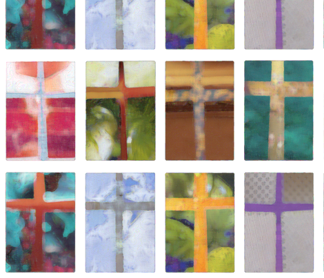 ArtCrosses fabric by melhales on Spoonflower - custom fabric