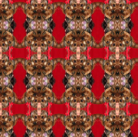 YORKIE BE MINE VALENTINE fabric by kaylah-marie on Spoonflower - custom fabric