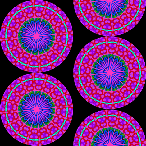Flower Power - 13  Mandala fabric by dovetail_designs on Spoonflower - custom fabric