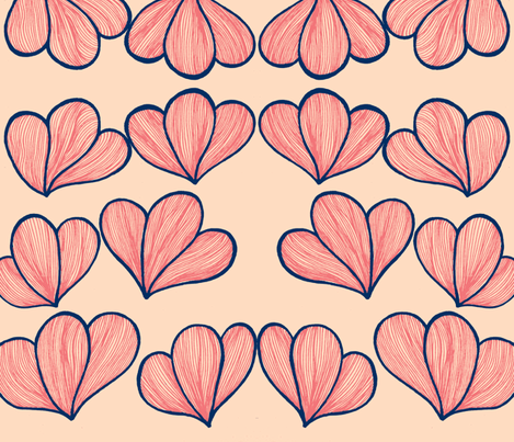 Petals -ch-ch fabric by syllatham on Spoonflower - custom fabric