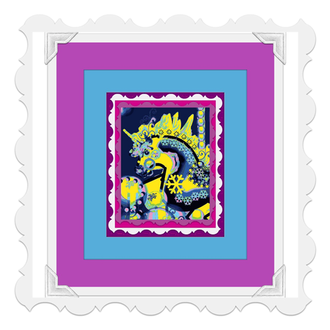 FANTASY CAROUSEL PHOTOFRAME MULTICOLOR fabric by kaylah-marie on Spoonflower - custom fabric