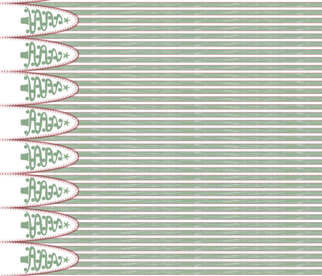 holiday tree stripe green - the ultimate tree skirt fabric by glimmericks on Spoonflower - custom fabric