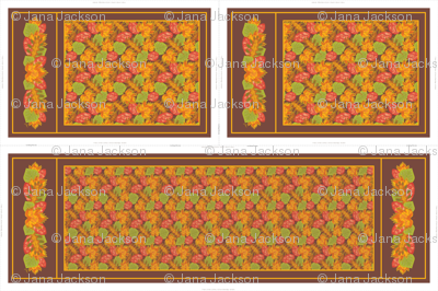 Autumn Leaves Table Runner & Tea Towels