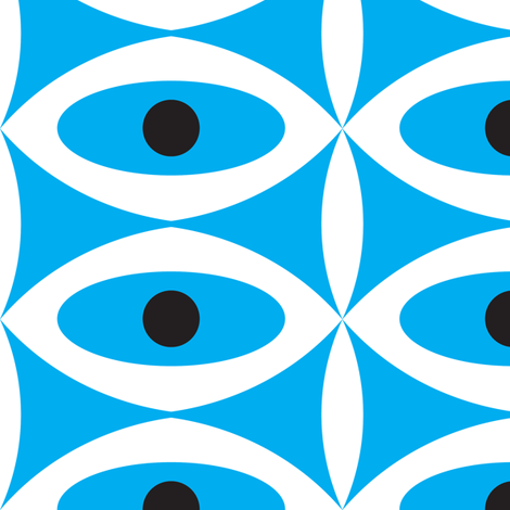 Retro Eyes fabric by pixeldust on Spoonflower - custom fabric