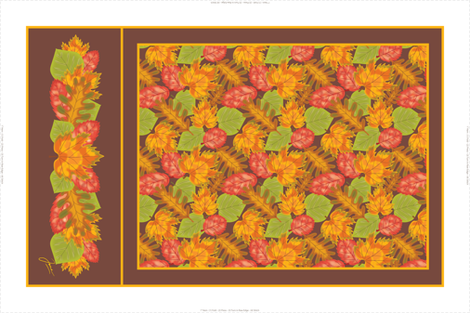 Autumn Leaves Tea Towel fabric by jjtrends on Spoonflower - custom fabric