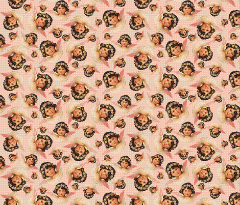angels_on_dots fabric by susiprint on Spoonflower - custom fabric