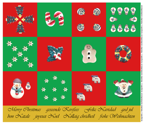 ChristmasButtonNapkins fabric by incomparable on Spoonflower - custom fabric