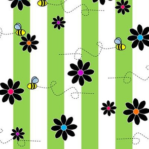 Buzz Bee Stripes Green